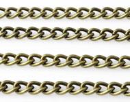 Metalen ketting met ovale schakels ± 1 meter (schakel ± 6x4,5mm)