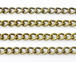 www.beadyourfashion.com - Metal chain with oval links ± 1 meter (link ± 6,5x4,5mm)