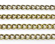 Cadena de metal con eslabones ovales ± 1 metro (eslabón ± 6,5x4,5mm)