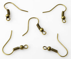 www.beadyourfashion.nl - Metalen Franse oorhaken ± 18x16mm (± 120 paar)