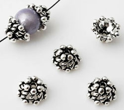 www.beadyourfashion.com - 925 Silver cap (sterling silver) decorated ± 9x5mm