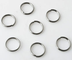 www.beadyourfashion.com - Stainless steel double jump rings ± 10mm and ± 0,7mm thick (± 30 pcs.)