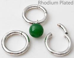 www.beadyourfashion.com - Brass pendant/connector ring, opening outwards ± 23mm, ± 3,5mm thick (suitable for B00909 - B00912, B00947 - B00964, B00972, B00978, B00979, B00985 - B00994)