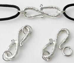 www.beadyourfashion.com - Brass clasp decorated, with 2 eyes ± 29x9mm