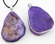 Natural stone pendant/charm Crystal Stone with brass pendant bail, irregular ± 57x32-61x38mm (hole ± 6x9mm)