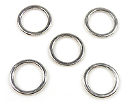 Metalen ring plat rond ± 15mm, ± 1mm dik