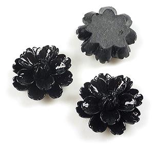 www.beadyourfashion.com - Synthetic flatback flower, lotus/water lily ± 26x11mm