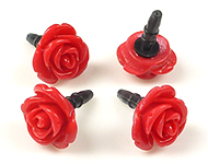 Synthetic anti-dust plug for mobile phone, rose ± 22x15mm