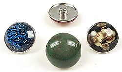 www.beadyourfashion.nl - Mix DoubleBeads EasyButton metalen drukknopen met kunststof plaksteen ± 18mm (geschikt voor DoubleBeads EasyButton accessoires)
