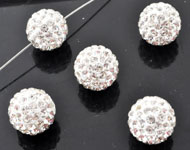 Strass bead round ± 12mm (hole ± 2mm)