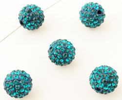 www.beadyourfashion.nl - Strass kraal rond ± 10mm (gat ± 2mm)