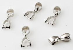 www.beadyourfashion.com - Brass pendant bail ± 14x5mm (hole ± 5x4mm)