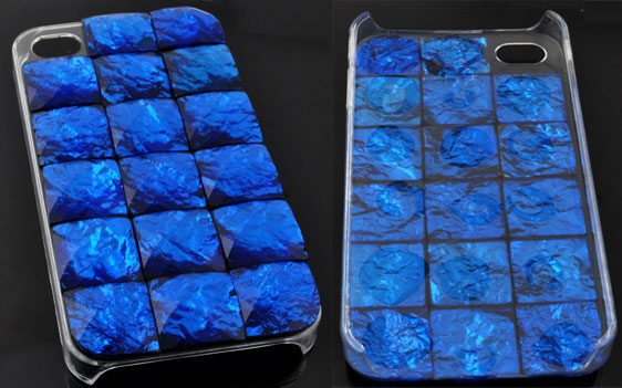 www.beadyourfashion.com - Synthetic iPhone 4/4S case/cover decorated with flat backs ± 6,1x12cm (± 15mm thick)