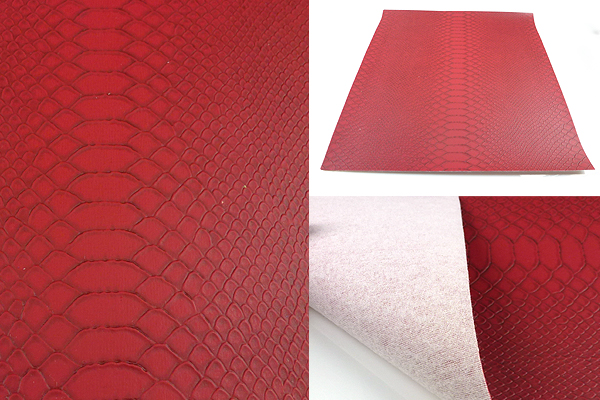 www.beadyourfashion.com - Piece of imitation leather with snake print ± 30x21,5cm, ± 0,7mm thick