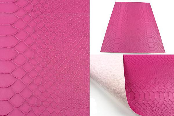 www.beadyourfashion.com - Piece of imitation leather with snake print ± 30x21,3cm, ± 0,7mm thick