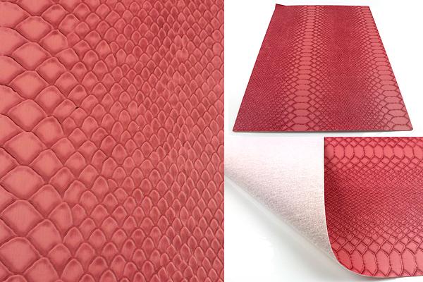 www.beadyourfashion.com - Piece of imitation leather with snake print ± 30x21cm, ± 0,7mm thick