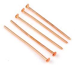 www.beadyourfashion.nl - Metalen nietstiften ± 30mm en ± 0,8mm dik (± 75 st.)
