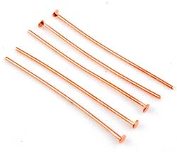 www.beadyourfashion.com - Metal head pins ± 40mm and ± 0,8mm thick (± 55 pcs.)
