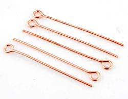 www.beadyourfashion.com - Metal eye pins ± 30mm and ± 0,8mm thick (± 80 pcs.)