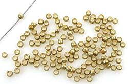 www.beadyourfashion.nl - Metalen knijpkralen/kralen ± 2x1,5mm (± 70 st.) (gat ± 1mm)