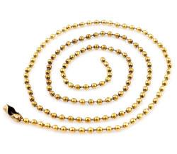 www.beadyourfashion.com - Brass necklace ± 45cm (link ± 2,5mm)