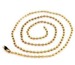 www.beadyourfashion.com - Brass necklace ± 75cm (link ± 2,5mm)