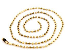 www.beadyourfashion.com - Metal necklace ± 95cm (link ± 2,5mm)