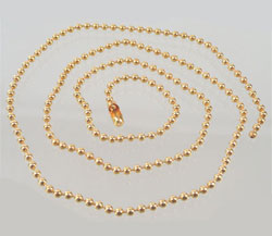 www.beadyourfashion.com - Metal necklace ± 50cm (link ± 2,5mm)