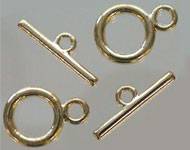 Metal toggle clasp ± 20x14mm