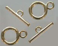 Fermoir T de métal ± 20x14mm