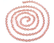 Metal chain with oval links ± 1 meter (link ± 6x5,5mm)
