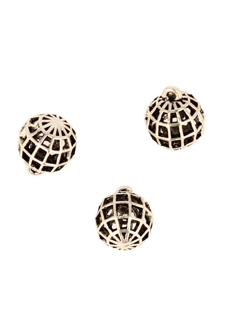 www.beadyourfashion.com - Metal pendant/charm round ± 18x15mm (hole ± 1,5mm)