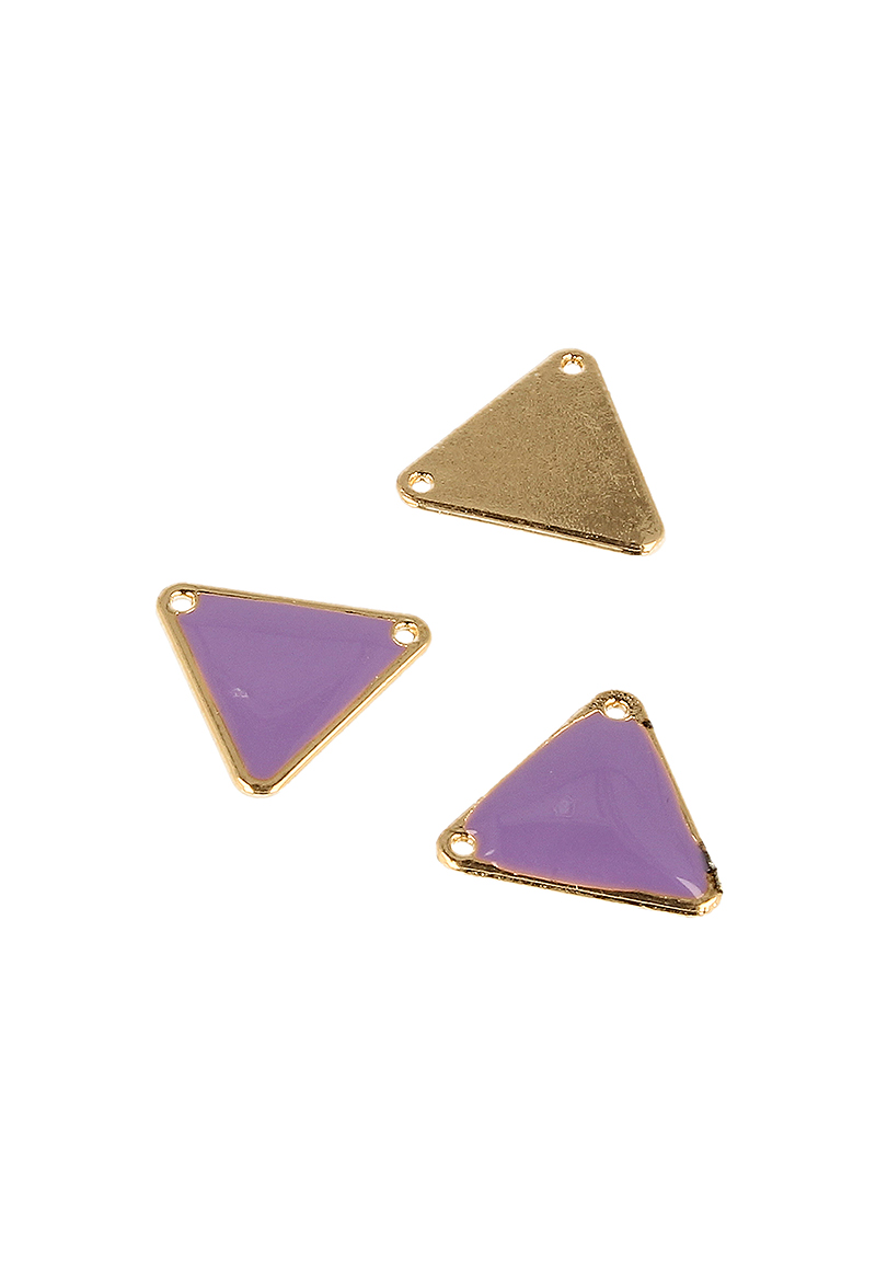 www.beadyourfashion.fr - Pendentif/entre-deux de métal triangle ± 18x20mm (trou ± 1,5mm)