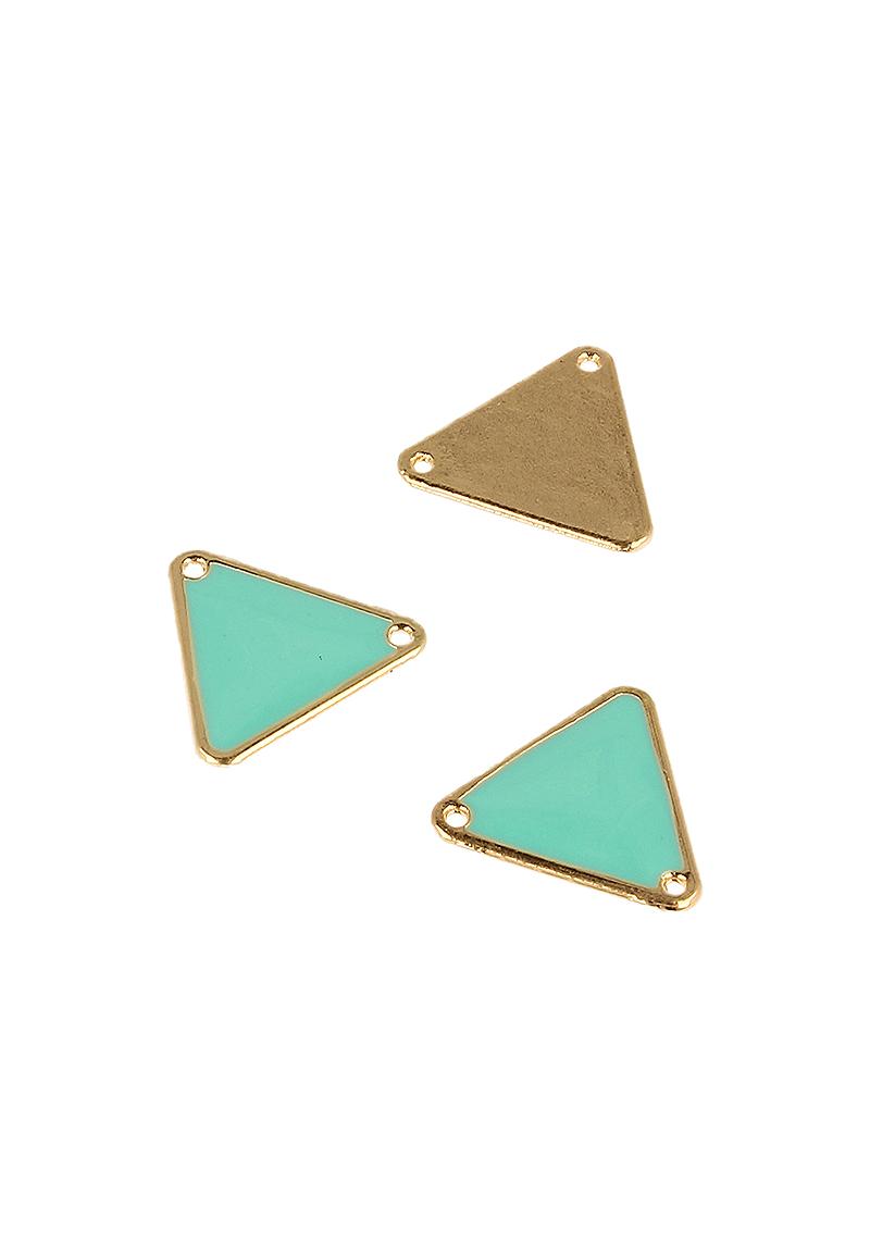 www.beadyourfashion.com - Metal pendant/connector triangle ± 18x20mm (hole ± 1,5mm)