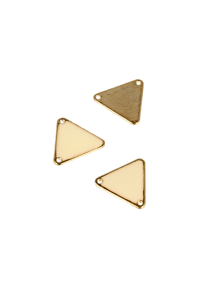 www.beadyourfashion.nl - Metalen hanger/tussenzetsel driehoek ± 18x20mm (gat ± 1,5mm)