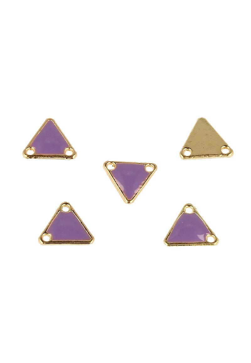 www.beadyourfashion.com - Metal pendant/connector triangle ± 11x12mm (hole ± 1,5mm)