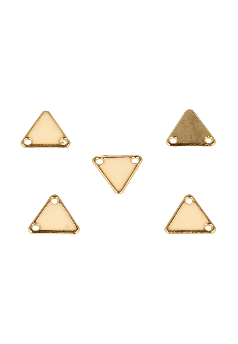 www.beadyourfashion.nl - Metalen hanger/tussenzetsel driehoek ± 11x12mm (gat ± 1,5mm)
