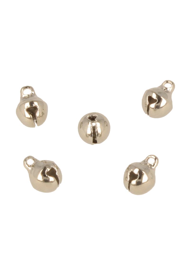 www.beadyourfashion.com - Metal pendant/charm bell ± 8x6mm (hole ± 1,5mm)