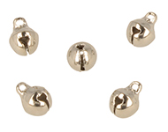 Metal pendant/charm bell ± 8x6mm (hole ± 1,5mm)