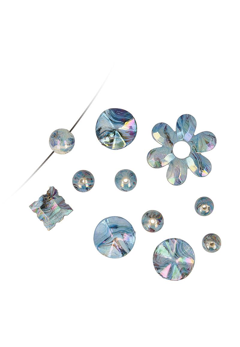 www.beadyourfashion.com - Mix synthetic beads irregular ± 11-35mm (hole ± 1mm)