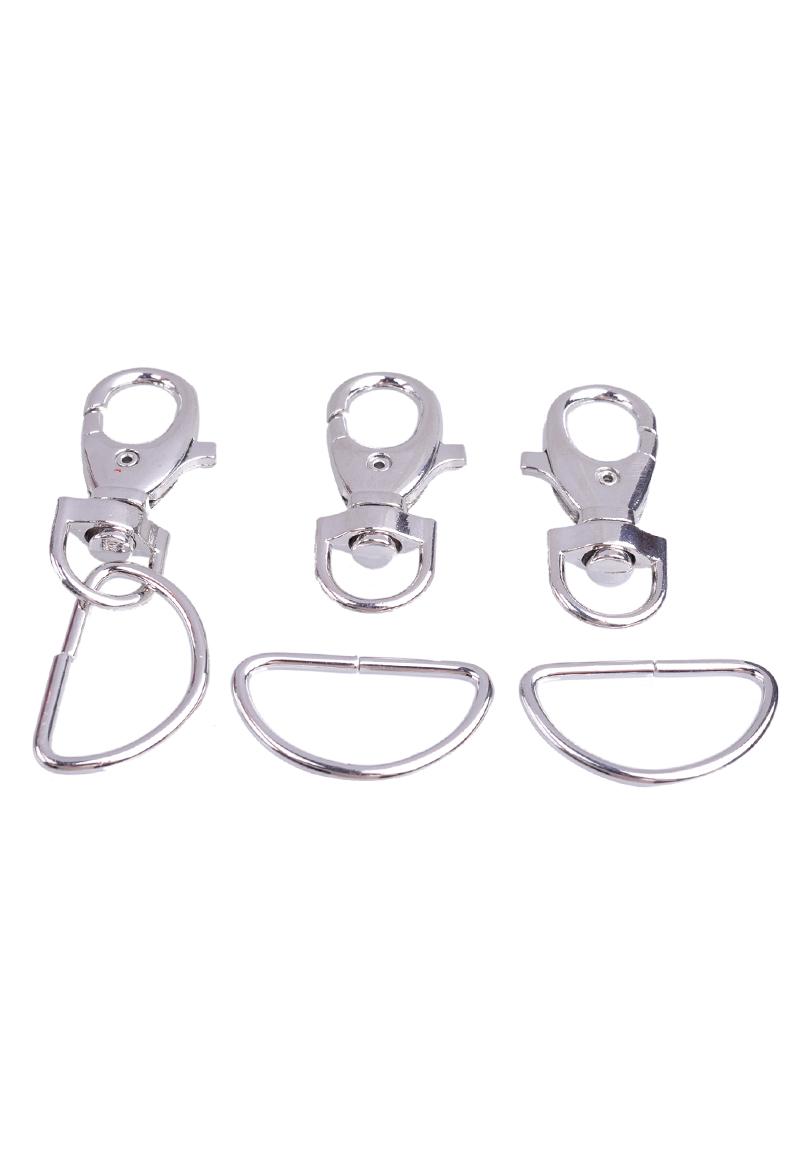 www.beadyourfashion.com - Metal keychain clip ± 52x21mm and ring semi round ± 38x23mm