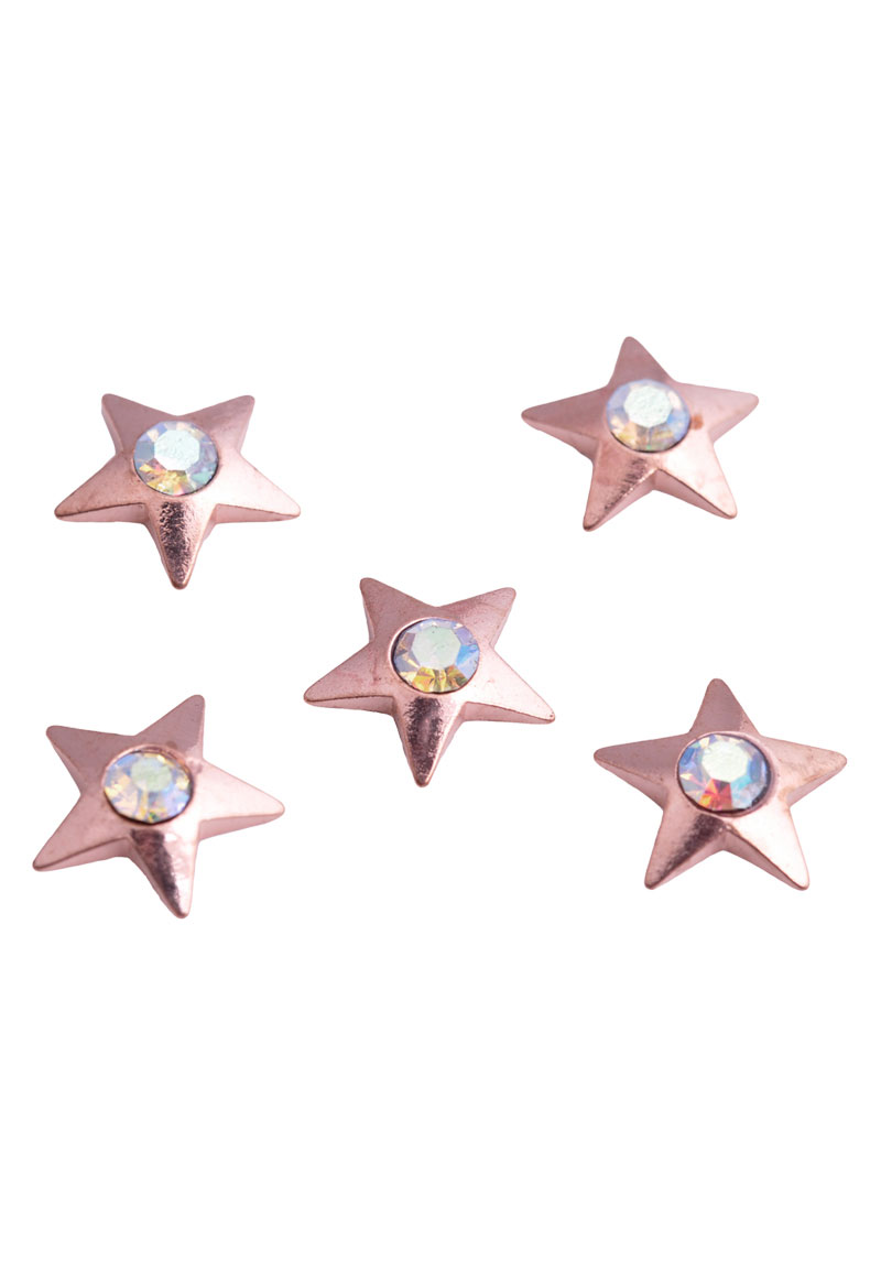 www.beadyourfashion.com - Metal beads 'Floating Charm' star with strass ± 10mm (suitable for 'Floating Charm Locket' glass settings)