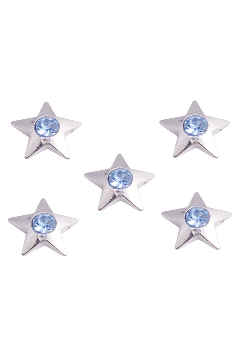 www.beadyourfashion.nl - Metalen kralen 'Floating Charm' ster met strass ± 10mm (geschikt voor 'Floating Charm Locket' met glazen kastje)