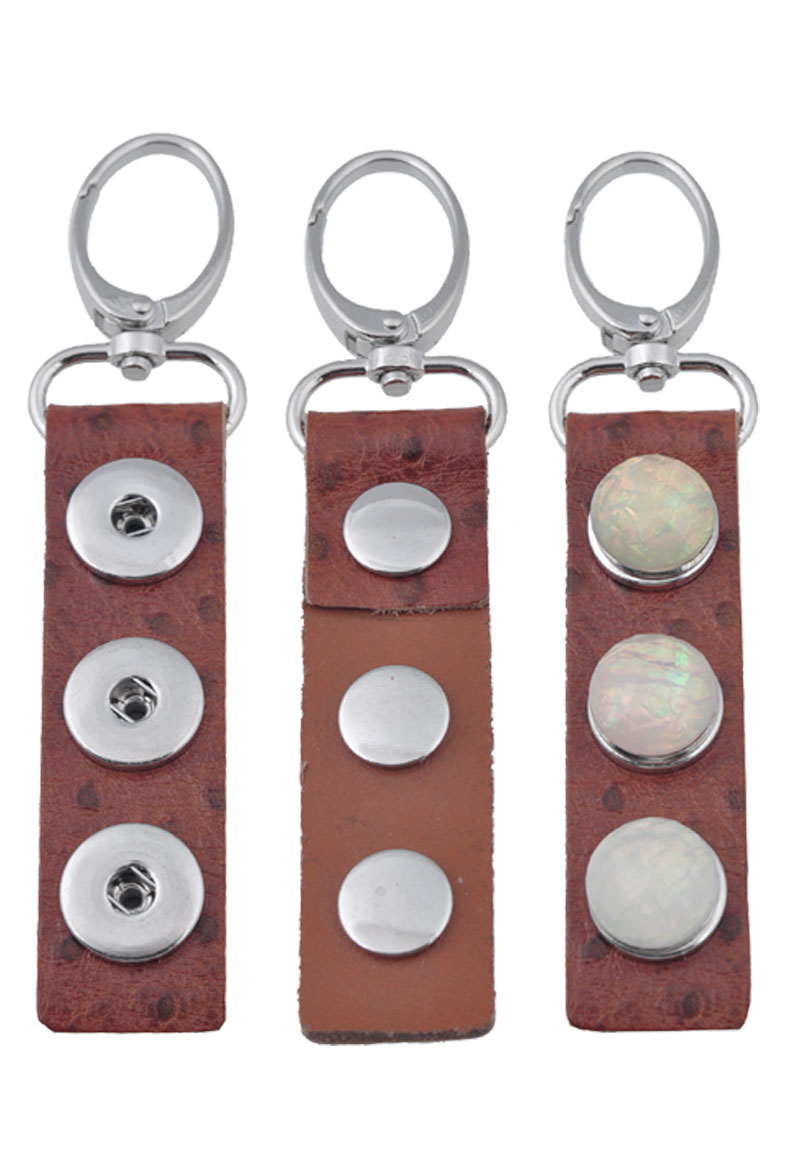 www.beadyourfashion.com - Leather keychain for DoubleBeads Easybutton