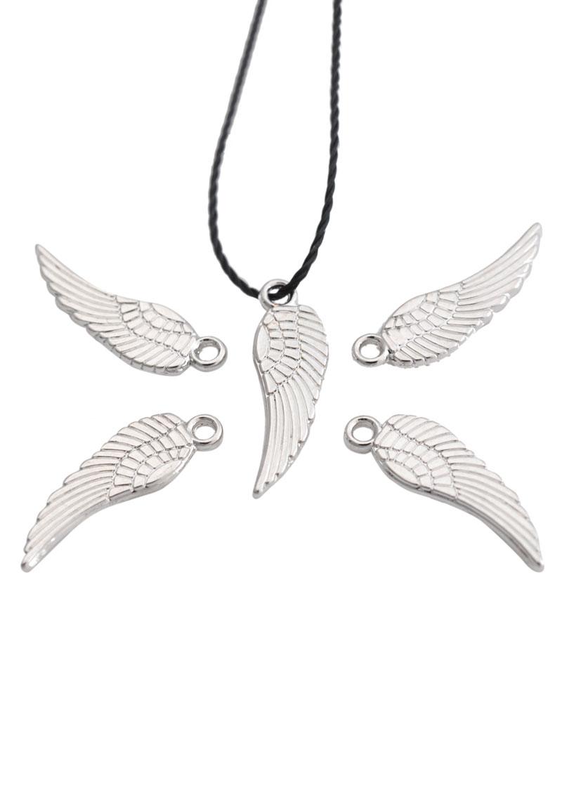 www.beadyourfashion.com - Metal pendant/charm wing 17x5mm