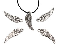 Metal pendant/charm wing 17x5mm