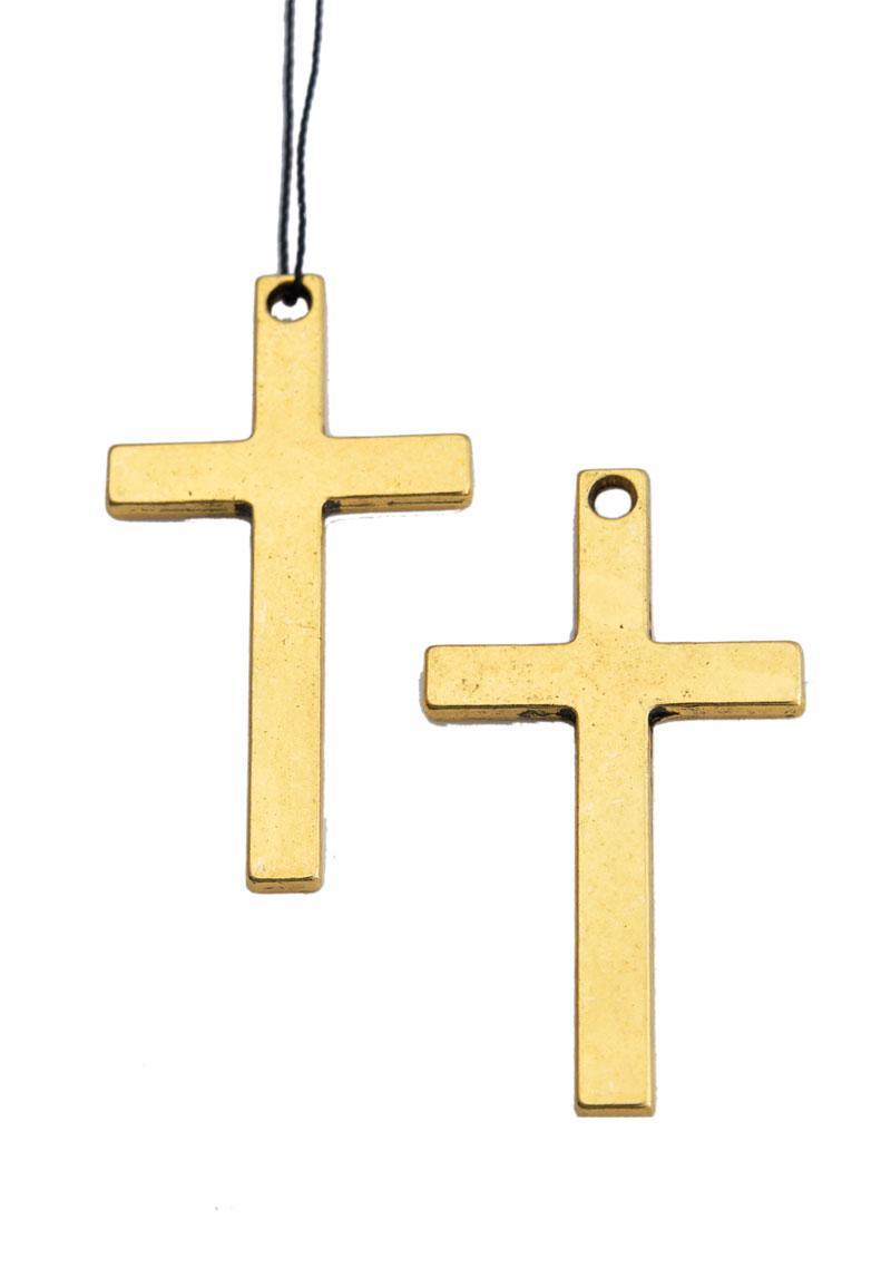 www.beadyourfashion.com - Metal pendant/charm cross 52x28mm
