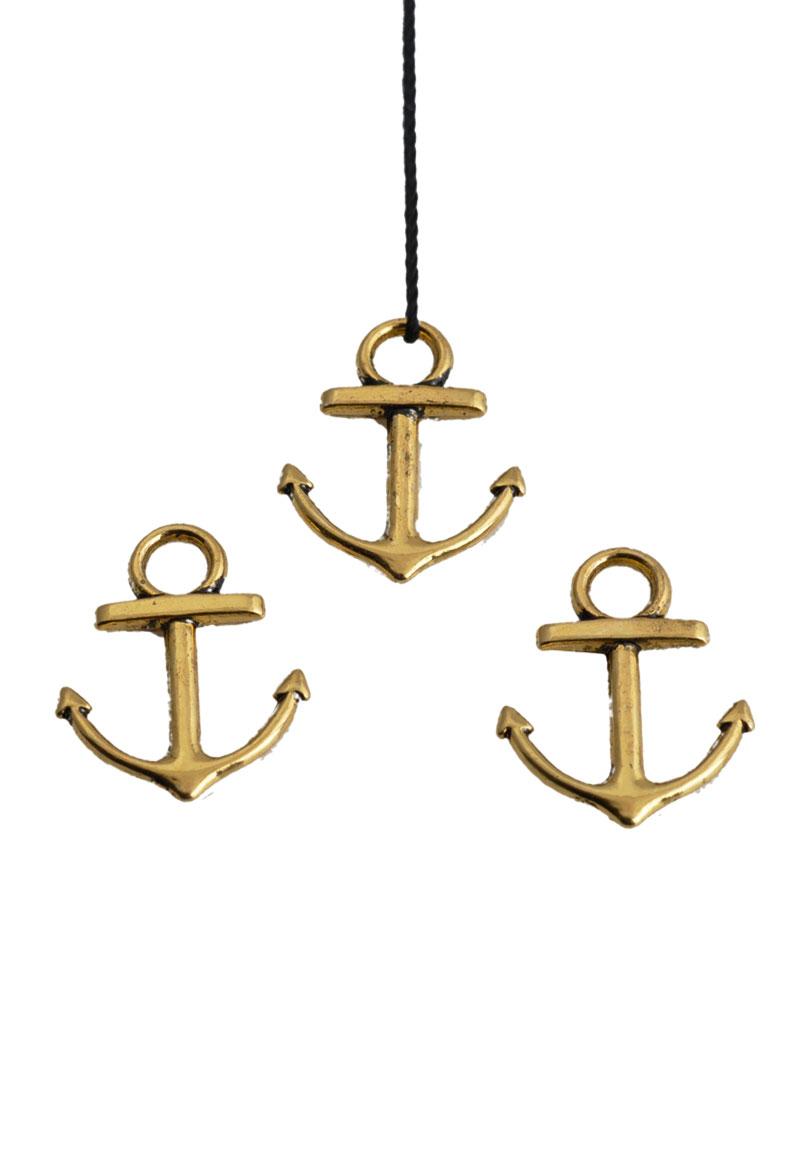 www.beadyourfashion.com - Metal pendant/charm anchor ± 18x14mm