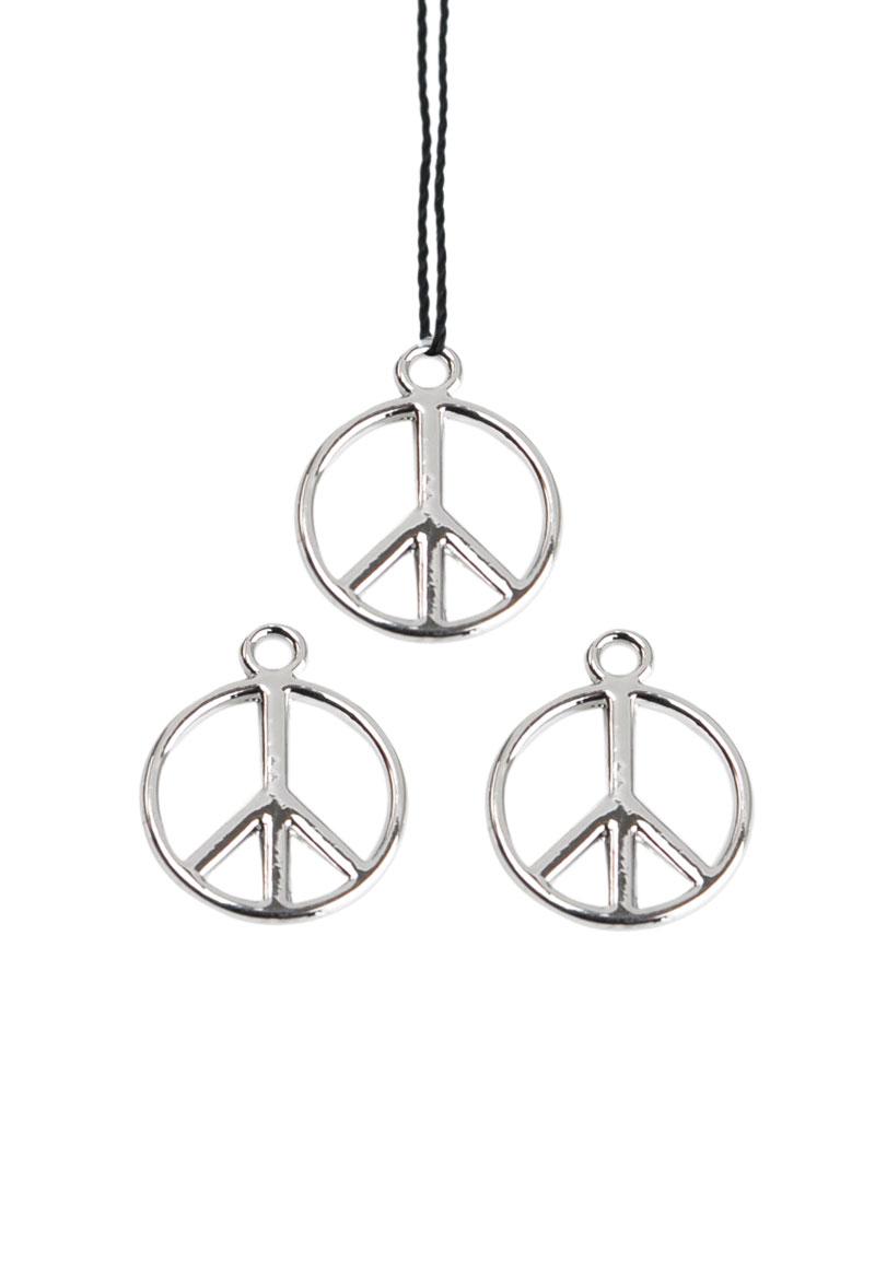 www.beadyourfashion.nl - Metalen hanger/bedel vredesteken 17x14mm