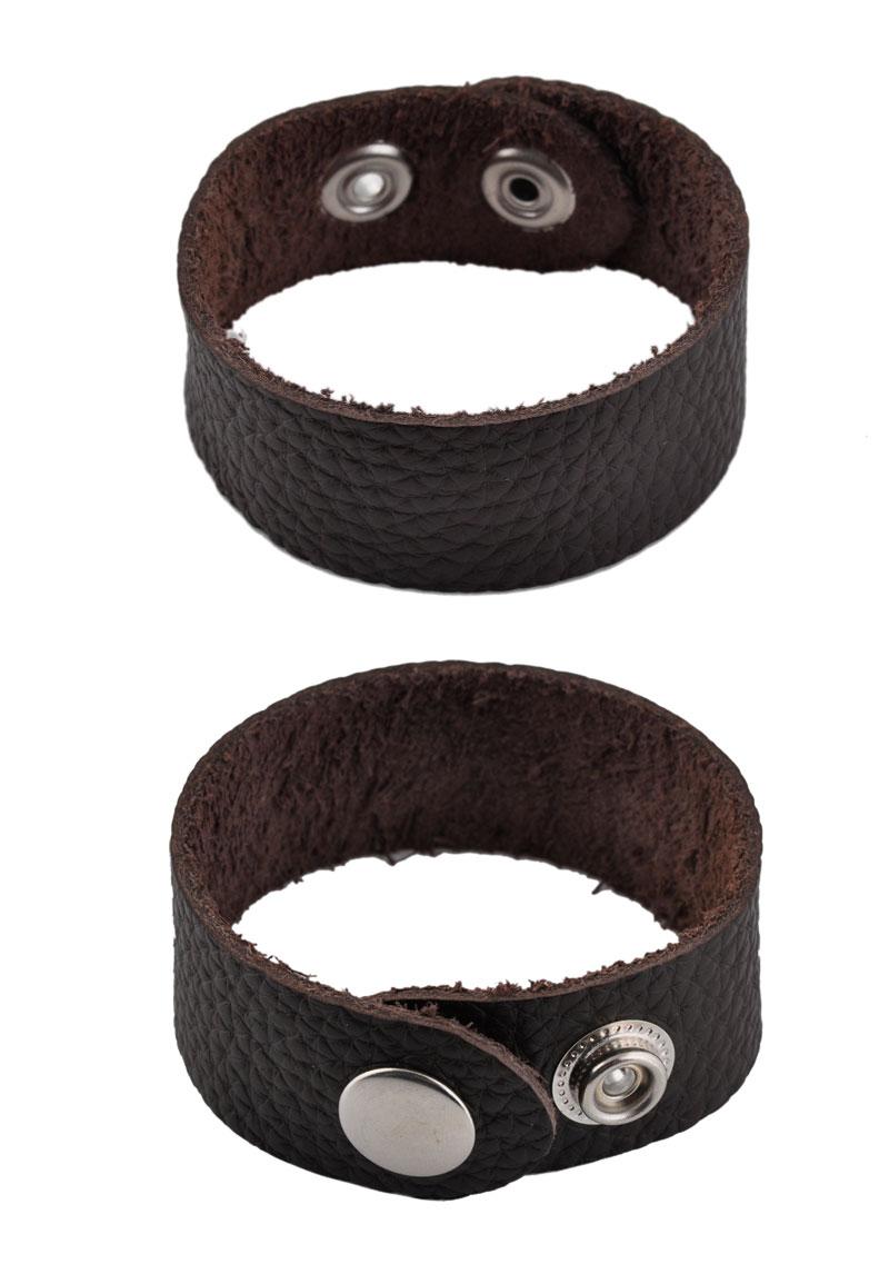 www.beadyourfashion.nl - Leren armband voor conchos ± 23x2,5cm